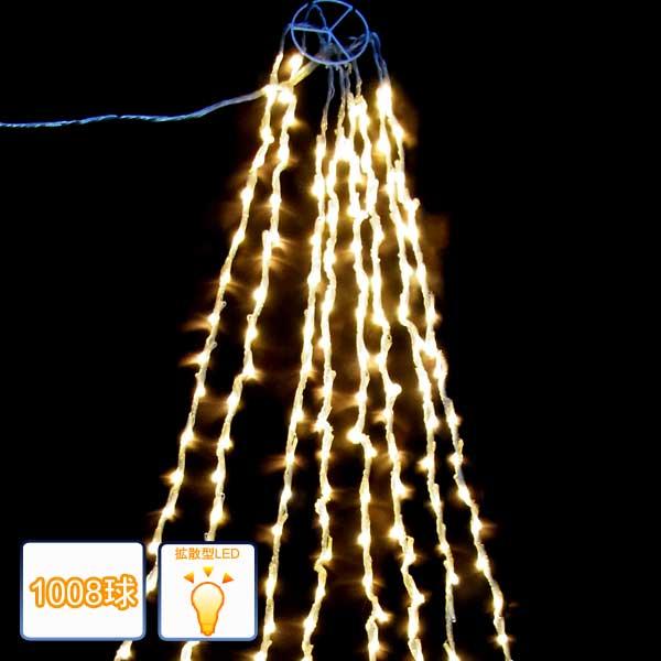 LEDドレープライト/ドレープライト 電球色1008球/コントローラー付/イルミネーション/クリスマス/ロングカーテンライト/送料無料/コロナ産業/RCP