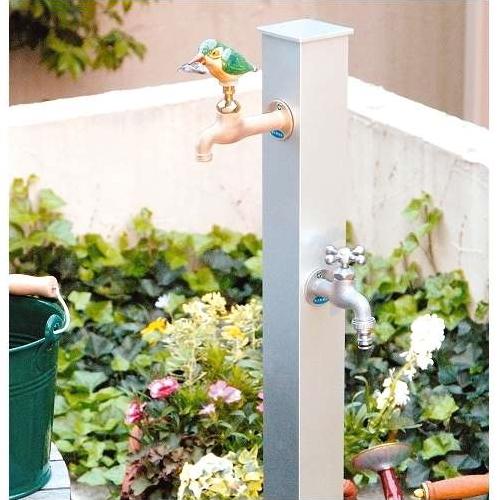 /水栓柱/ カラーアルミ立水栓・補助蛇口付き仕様 /送料無料/D-1/RCP/05P03Sep16/【HLS_DU】