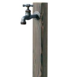 和のガーデングッズガーデン水栓 枯焼杉/送料無料/RCP/05P03Sep16/【HLS_DU】