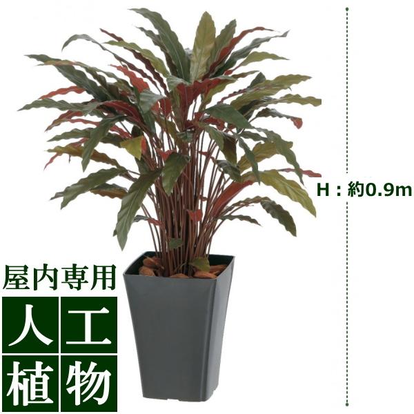 「美しい」がずっと続く。自然な色合い、表情が美しい人工植物。 /人工植物/グリーンデコ カラテアR レッド 0.9m/送料無料/RCP/05P03Dec16/【HLS_DU】