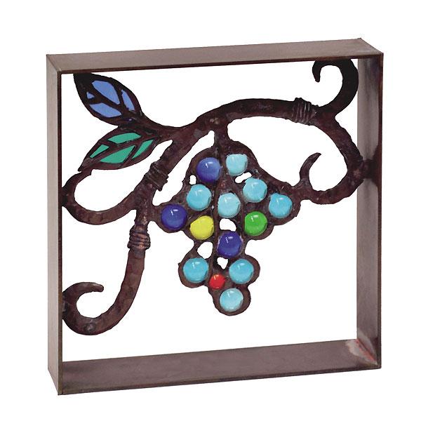 シャインガラスブロック ブドウ /日本製/青銅/錫合金/ガラス/D-1