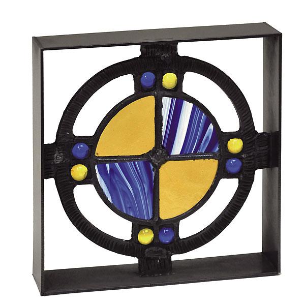 シャインガラスブロック ベネチアンBY /日本製/青銅/錫合金/ガラス/D-1