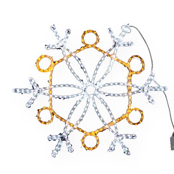 LEDイルミネーション/2Dモチーフライト LEDスノーフレーク白・黄色/イルミネーション/クリスマス/LED/コロナ産業/送料無料/RCP/05P03Dec16/【HLS_DU】