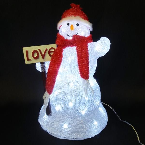 LEDイルミネーション/3Dモチーフライト ラブ&スノーマン/イルミネーション/クリスマス/スノーマン/LED/コロナ産業/RCP/05P03Dec16/【HLS_DU】