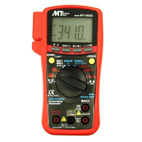 MT・PC対応デジタルマルチメータ・MT-4520