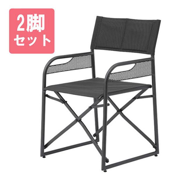 フォールディング ディレクターズチェアー2脚セット【大型宅配便】/ガーデンファニチャー / ガーデンチェアー/RCP