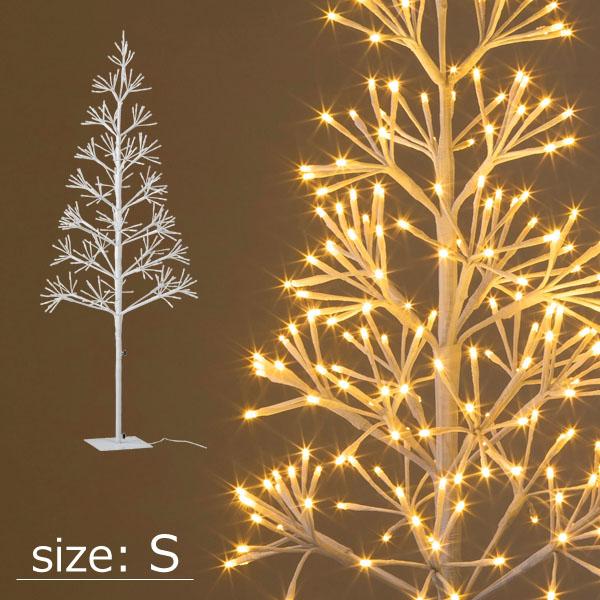 ローボルトクラスターツリー S シャンパンゴールド/イルミネーション LED/枝ツリー/オーナメント/ブランチツリー/屋外イルミネーション/モチーフライト/クリスマス/タカショー