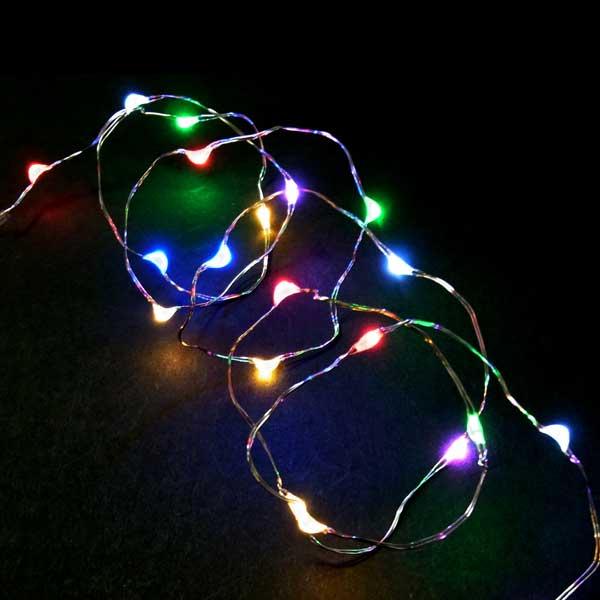 受注生産品 クリスマスで使える初心者さん応援セット 室内用LEDジュエリーライト ジュエリーライト7色ミックス20球 電池式 タイマー付 イルミネーション 室内用 お求めやすく価格改定 コロナ産業 デコレーション RCP クリスマス