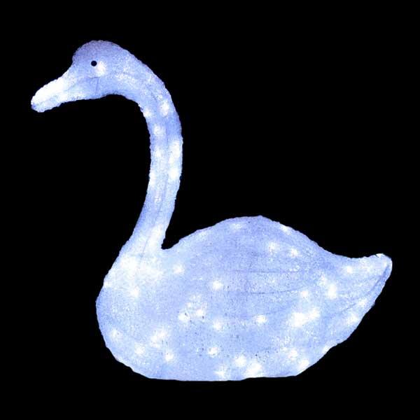 LEDイルミネーション/3Dスノーアニマルモチーフ/ LED白鳥/イルミネーション/送料無料/クリスマス/スノーアニマル/LED/コロナ産業/RCP/05P03Sep16/【HLS_DU】