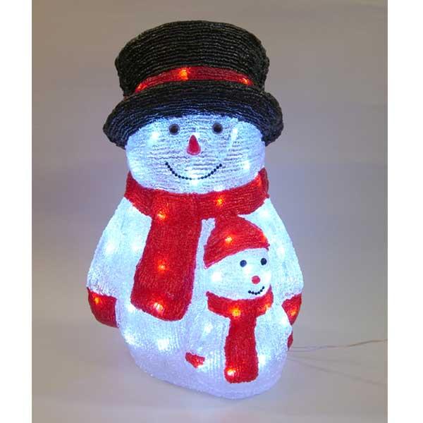 LEDイルミネーション/3Dスノーマンモチーフ LED スノーマンペア/イルミネーション/クリスマス/コロナ産業/RCP