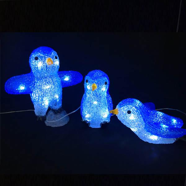 LEDイルミネーション/3Dスノーアニマル/モチーフライト スリーペンギン/イルミネーション/クリスマス/LED/コロナ産業