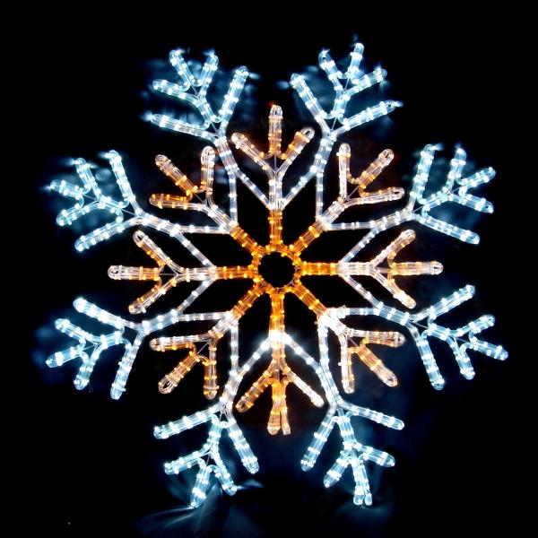 LEDイルミネーション/2Dモチーフライト LEDスノーフレーク白・黄色/LED ホワイト/LED イエロー/イルミネーション/クリスマス/コロナ産業/送料無料/RCP/05P03Dec16/【HLS_DU】