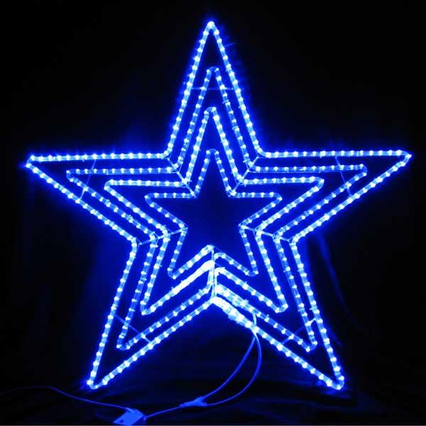 LEDイルミネーション/LEDスターライトモチーフ/LEDビッグスター青色/イルミネーション/クリスマス/チューブライト/送料無料/コロナ産業/RCP/05P03Dec16/【HLS_DU】