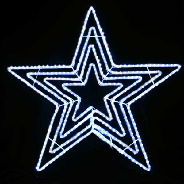 LEDイルミネーション/LEDスターライトモチーフ/LEDビッグスター白色/イルミネーション/クリスマス/チューブライト/送料無料/コロナ産業/RCP/05P03Dec16/【HLS_DU】