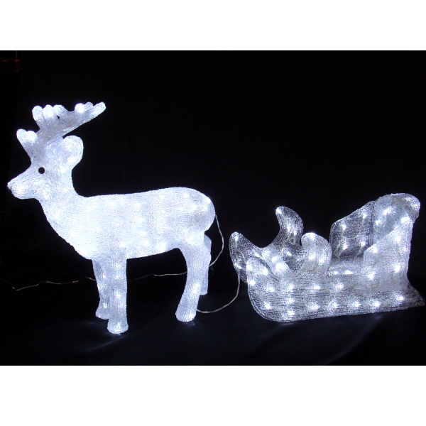 LEDイルミネーション/3Dモチーフライト LEDアクリル トナカイ&ソリ/イルミネーション/クリスマス/送料無料/LED/コロナ産業/RCP/05P03Dec16/【HLS_DU】