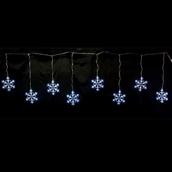 LEDイルミネーション/スノーフレーク/スノーフレークつらら 白色8連/イルミネーション/クリスマス/チューブライト/コロナ産業/RCP/05P03Dec16/【HLS_DU】