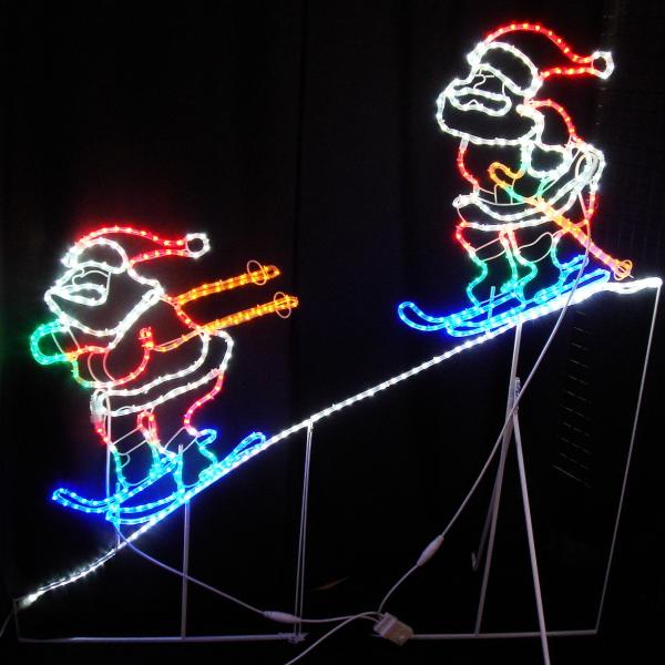 超激安 LEDイルミネーション/2Dモチーフライト LED2人スキーサンタ/サンタクロース/イルミネーション 防雨/クリスマス/送料無料/コロナ産業/RCP/05P03Dec16/【HLS_DU】:DEPOS 2号館-エクステリア・ガーデンファニチャー