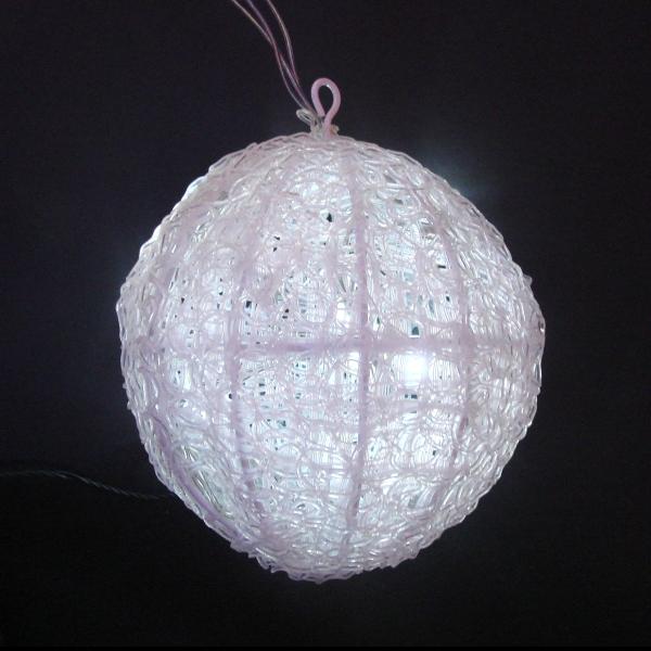 LEDイルミネーション/3Dモチーフライト 白色LED クリスタルボールライト 20cm/イルミネーション/クリスマス/LED ホワイト/コロナ産業/RCP/05P03Dec16/【HLS_DU】