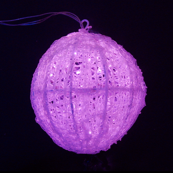 LEDイルミネーション/3Dモチーフライト ピンク LEDクリスタルボールライト 20cm/イルミネーション/クリスマス/LED ピンク/コロナ産業/RCP/05P03Dec16/【HLS_DU】