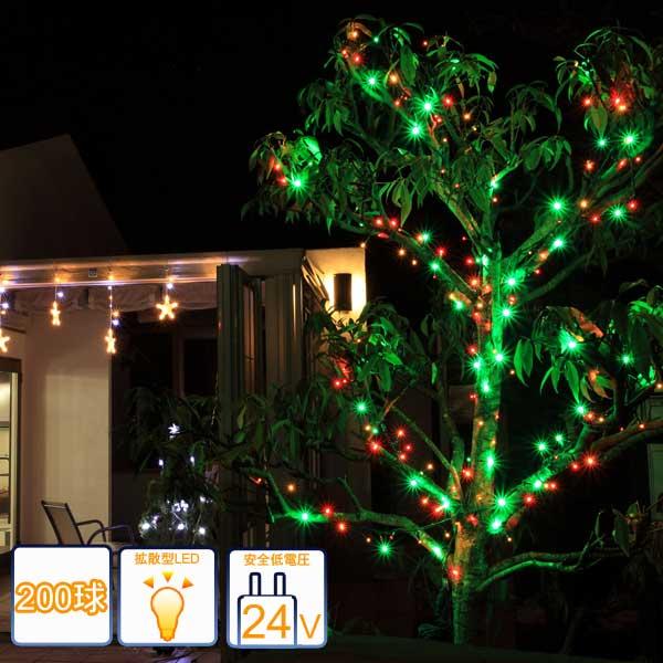 安心 安全ローボルトイルミネーション もっともポピュラーなストレートライト 2in1イルミネーション 毎日激安特売で 半額 営業中です ローボルトLEDイルミネーション ストレートライト タカショー イルミネーション コントローラー付き クリスマス マルチカラー200球 LEDイルミネーション