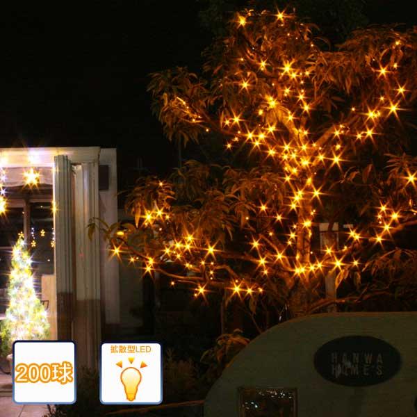 LEDイルミネーション ストレートライト イエロー 200球/コントローラー付/LEDイエロー/クリスマス/イルミネーション/コロナ産業/RCP