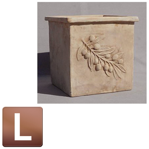 テラコッタ製植木鉢/オリーブ スクエアーアンティコ Lサイズ/B-1/RCP/05P03Dec16/【HLS_DU】