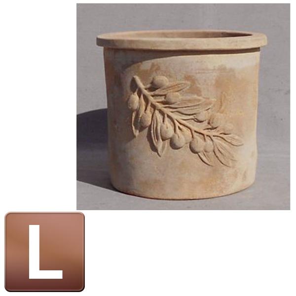大人気のアンティコシリーズに、新鮮な新作が続々誕生! テラコッタ製植木鉢/オリーブ ラウンドアンティコ Lサイズ/B-1/RCP/05P03Dec16/【HLS_DU】