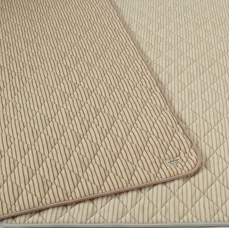 西川 ウォッシャブル 洗える ウール シール織 敷きパッド ダブル 140×205cm 日本製 イトリエ itolier (IT9654)