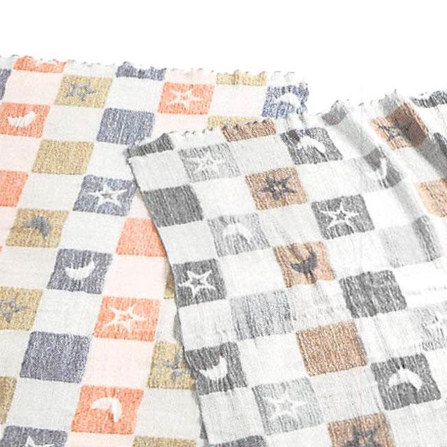 ロマンス小杉 WAXYO 千亀利織 ふわふわガーゼケット 石畳文(いしだたみもん) シングルサイズ 140×190cm