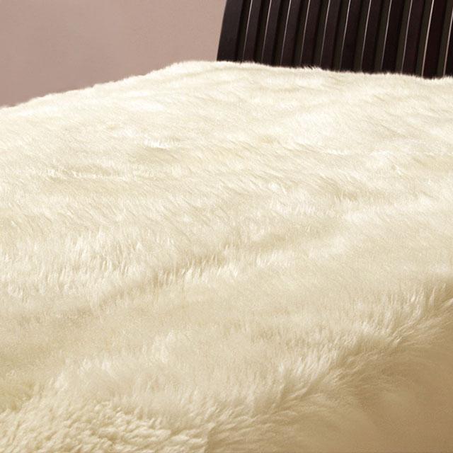 豊かな弾力とここち良い肌ざわりが気持ちいい ロマンス小杉 ロマンスムートン ムートンシーツ セミダブル 日本製 120×200cm 休日 本日限定 羊毛毛長55mm