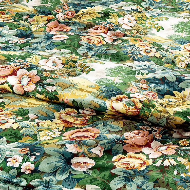 [ポイント6倍] 西川 サンダーソン 真綿掛けふとん 掛け布団 ダブルロング 190×210cm 1.5kg 日本製 Sanderson (SD004)