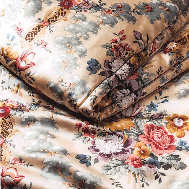 [ポイント6倍] 西川 サンダーソン 真綿掛けふとん 掛け布団 ダブルロング 190×210cm 1.5kg 日本製 Sanderson (SD001)[キャッシュレスで 5%還元]