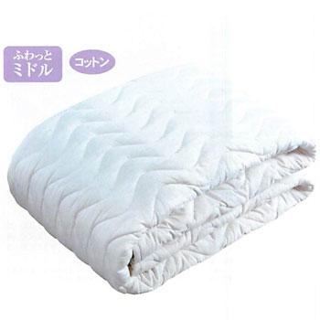 ベッドパッド コットン ラインパッド シングルサイズ(100×200cm) CN2401 東京西川