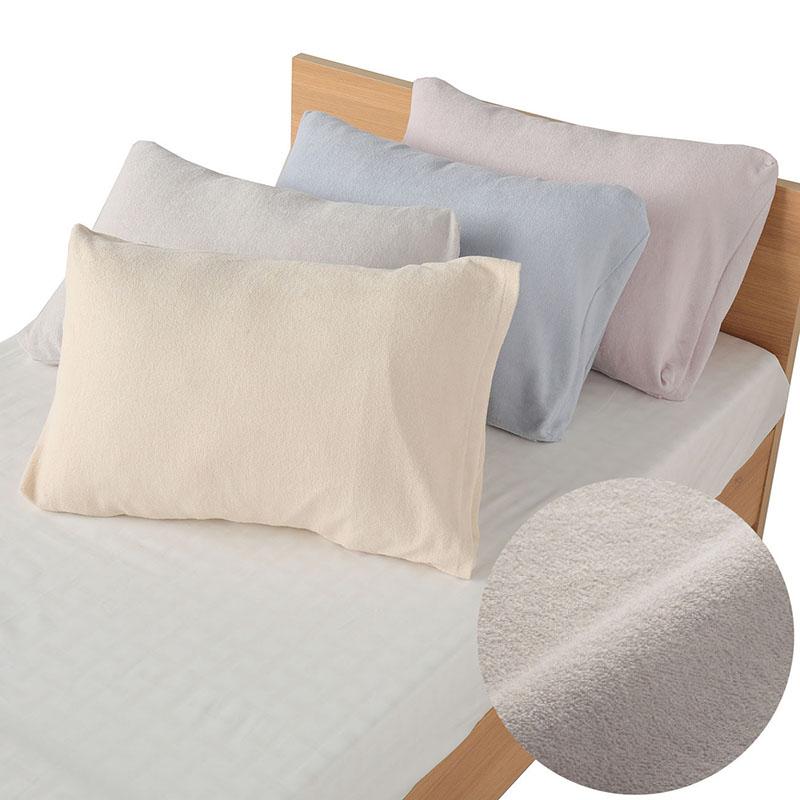 優れた吸水 放湿性とふわふわの肌触りが気持ち良い枕カバー 西川 定番スタイル 綿パイル ピローケース 枕カバー 70×40cm 包布式 日本製 10%OFF エンジェルシリーズ用 PC8602