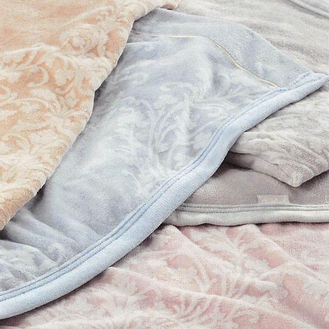 【東京西川】【Qualial(クオリアル)】シール織綿毛布(毛羽部分) シングル(S:140×200cm)QL6655