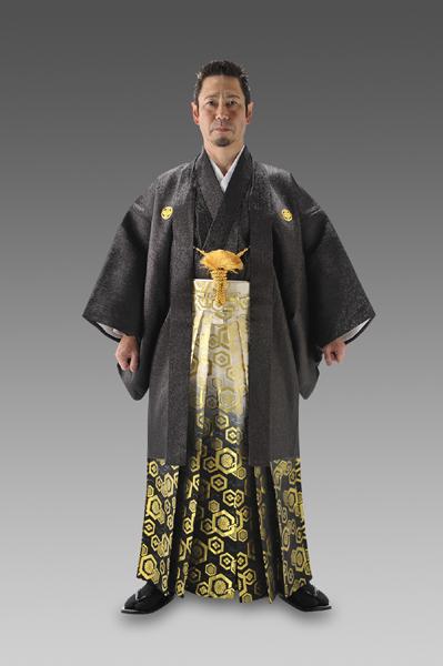 金銀羽衣-ブラック-[羽織&きものセット]