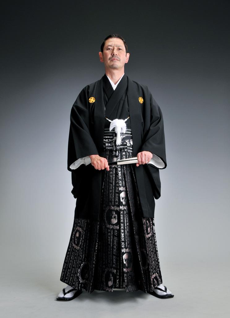 雷舞デザイン袴-ドクロ-[はかま]