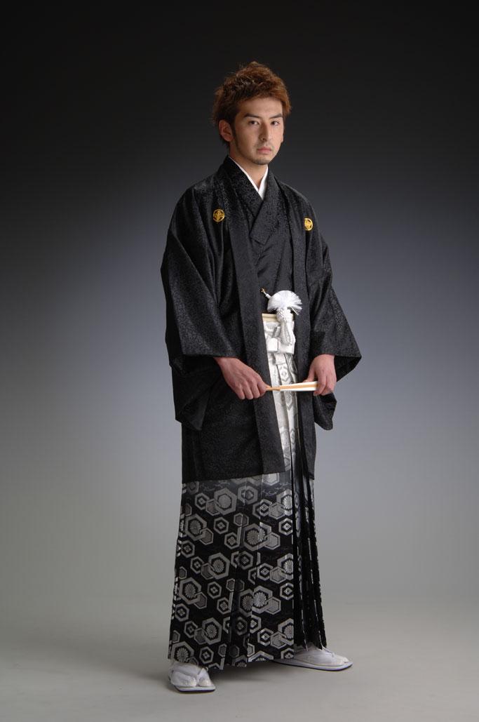 金襴ボカシ袴-黒-[はかま]