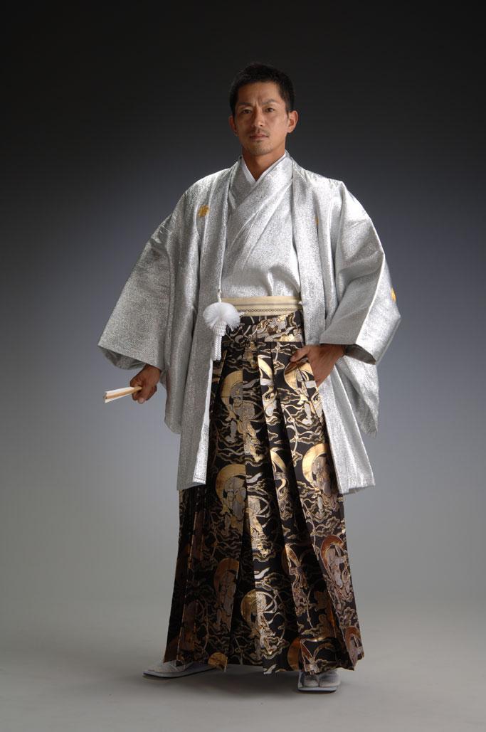 金銀羽衣-銀-[羽織&きものセット]