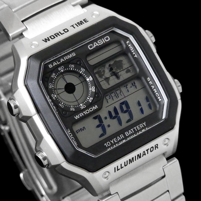 97ee68e544 Casio standard digital watch メンズチープカシオチプカシ ae-1200whd-1a affordable price  silver black black