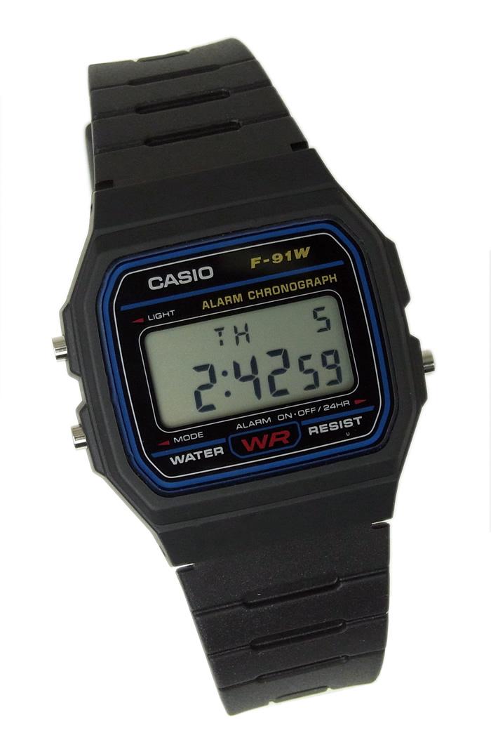 9bc00ed9c Casio CASIO standard mens digital watches cheap Casio type cash F-91W-1D  black blue. Stopwatch simple overseas model square gift picks