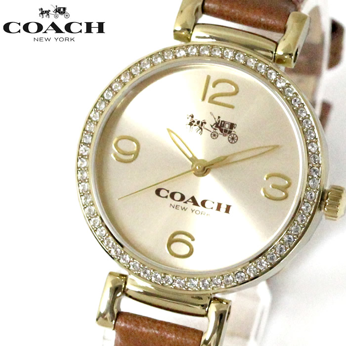 37e4ee7ff414 コーチCOACHレディース腕時計マディソンゴールド/ブラウン14502650送料無料ラッピング無料クオーツレザー人気