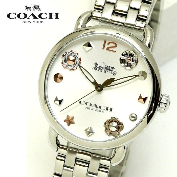 【コーチ】 【COACH】 レディース 腕時計 14502810 DELANCEY デランシーウィズ チャーム レディース腕時計 ウォッチ シルバー ブランド 時計 激安 かわいい エレガント 上品 SNS インスタ ラッピング無料可能 プレゼント