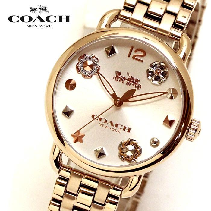 【コーチ】 【COACH】 レディース 腕時計 14502811 DELANCEY デランシーウィズ チャーム レディース腕時計 ウォッチ イエローゴールド ブランド 時計 激安 かわいい エレガント 上品 SNS インスタ ラッピング無料可能 プレゼント