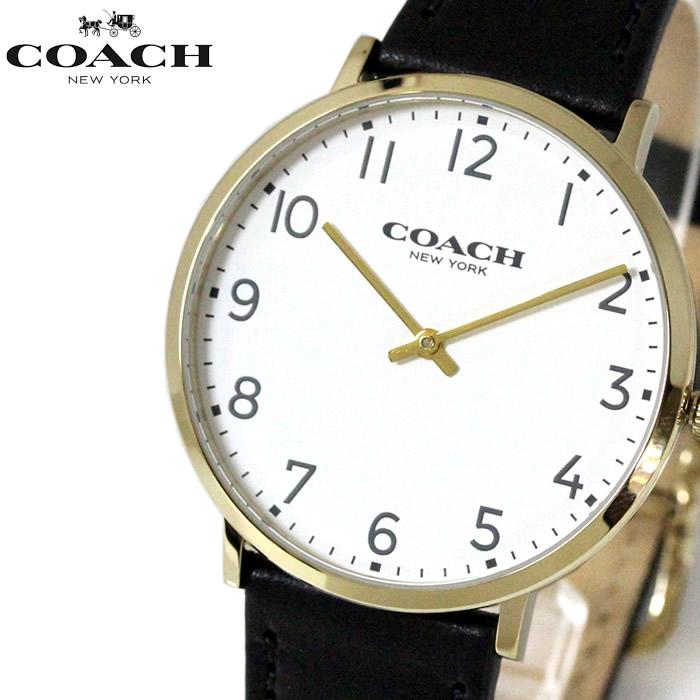 コーチ COACH メンズ 腕時計 ブラック ホワイト 14602125 送料無料 ラッピング無料 クオーツ レザー 人気 かわいい 高価 ブランド プレゼント 【コーチ】 【腕時計】 誕生日 記念日 バレンタインデー