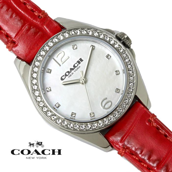 【送料無料】 コーチ COACH レディース 腕時計 トリステン スモール TRISTEN SMALL 14502100 ホワイトシェル×レッド 特価 プレゼント ギフト おすすめ