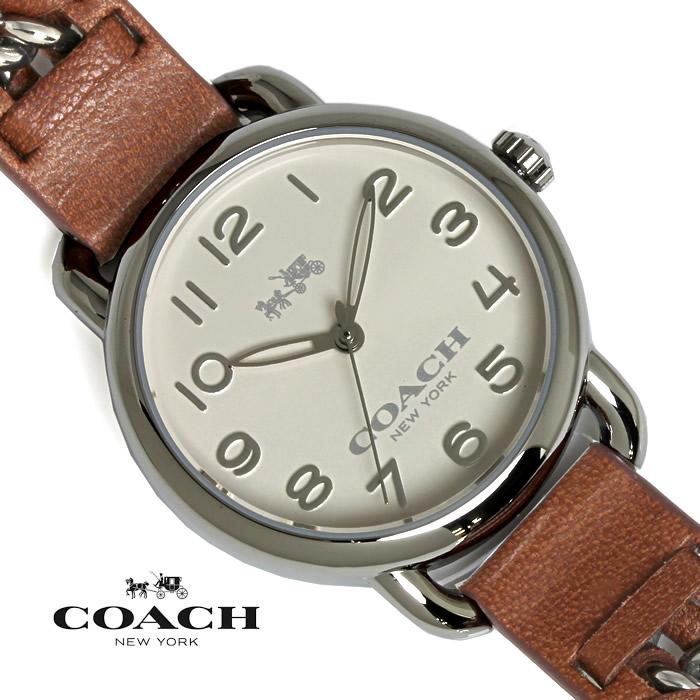 【送料無料】 コーチ COACH レディース 腕時計 デランシー 14502258 シルバー×ブラウン ブランド 特価 プレゼント ギフト おすすめ