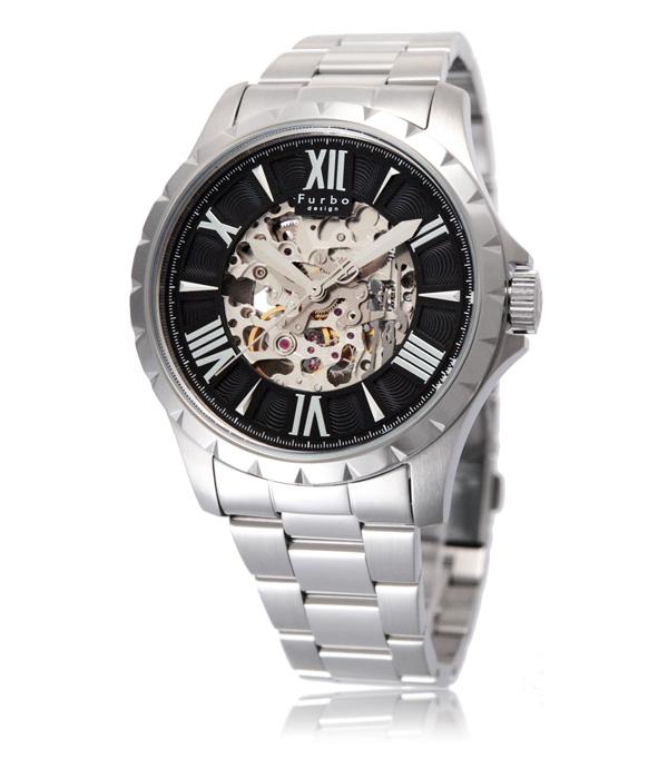 フルボデザイン Furbo design 腕時計 メンズ 激安 ブランド 日本製自動巻き 機械式時計 スケルトン かっこいい 大人 モテル クリスマス おしゃれ プレゼント 【腕時計】とけい 流行 誕生ラッピング無料可能 ランキング f5021bkss
