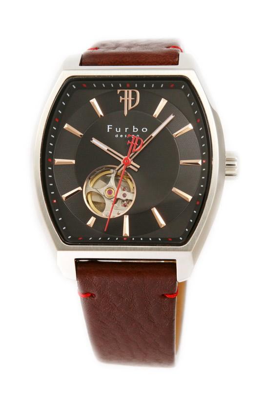 フルボデザイン 腕時計 メンズ ブランド 日本製自動巻き トノー F8201SBKBR ブラック/ブラウン ラッピング無料可 人気 プレゼント おしゃれ 芸能人 モデル おすすめ ギフト プレゼント おしゃれ 【腕時計】 ランキング 流行 激安