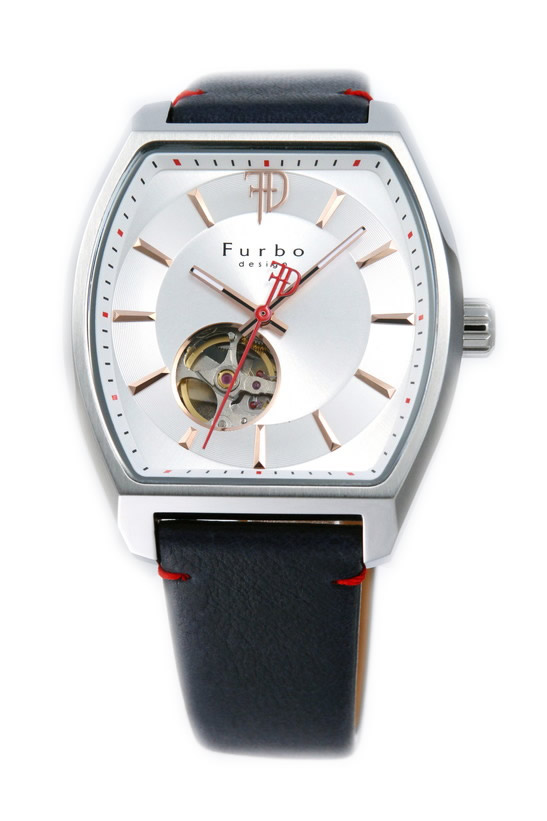 フルボデザイン 腕時計 メンズ ブランド 日本製自動巻き トノー F8201SSINV ネイビー/ホワイト ラッピング無料可 人気 プレゼント おしゃれ 芸能人 モデル おすすめ ギフト プレゼント おしゃれ 【腕時計】 ランキング 流行 激安